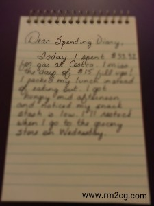 Have you ever used a spending diary?